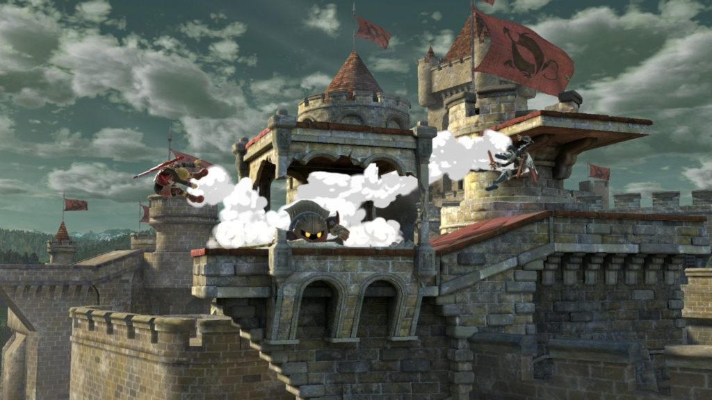 スマブラsp メタナイトがシュルクとルキナと戦っている画像