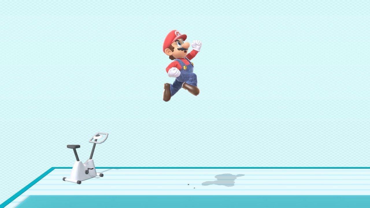 スマブラspでマリオがジャンプしている画像