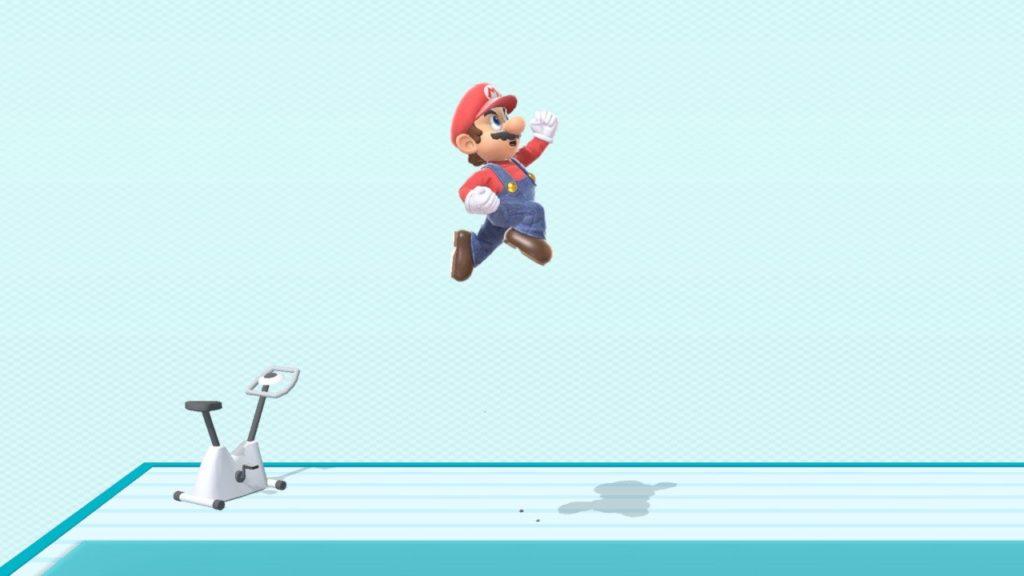スマブラsp マリオがジャンプしている画像