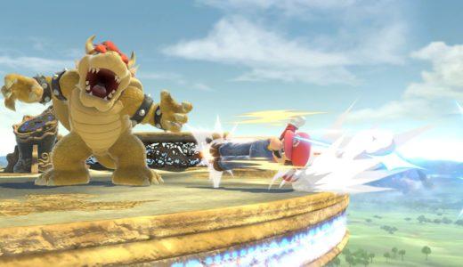 スマブラspでマリオが攻撃上がりをしている画像