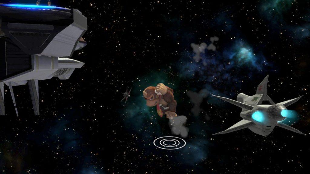 スマブラsp ドンキーコングが復帰するために空中ジャンプを使った瞬間