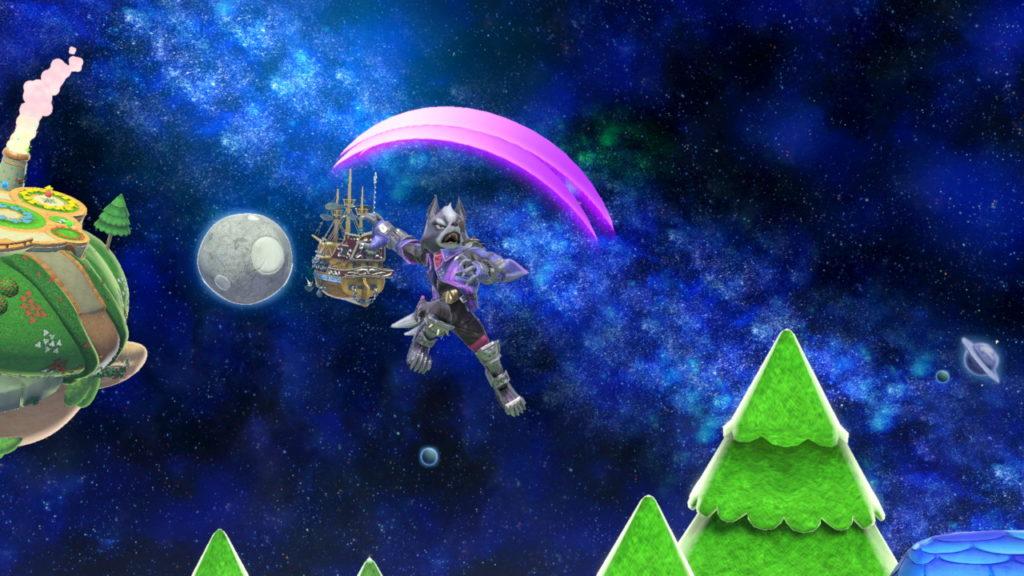 スマブラsp ウルフが空上を繰り出している画像