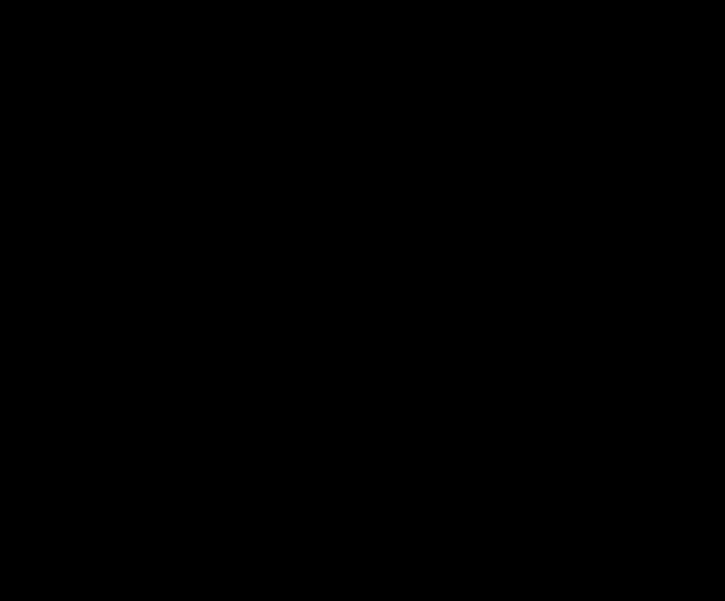男性がはてなを手のひらの上に掲げている白黒のイラスト