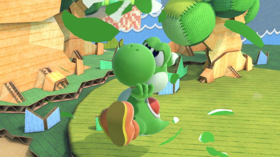 スマブラSPでヨッシーが横Bの卵から出てきた画像