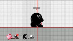 スマブラSPでカービィがミスターゲーム&ウォッチのコピーをしている画像
