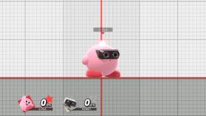 スマブラSPでカービィがロボットのコピーをしている画像