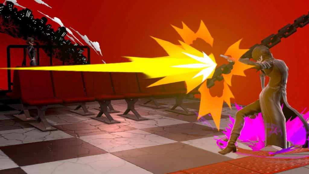 スマブラSPでジョーカーがNBを撃っている画像