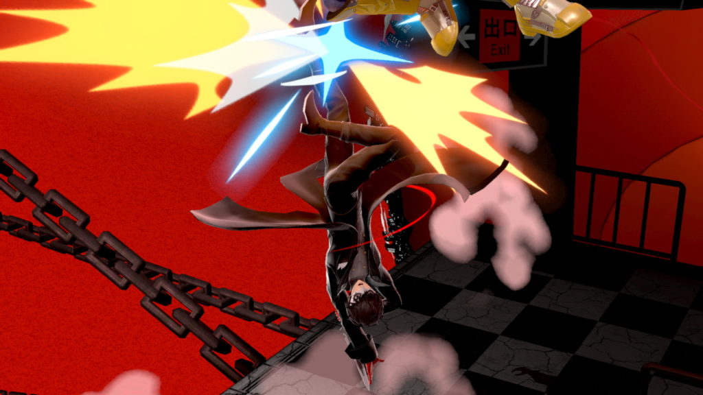 スマブラSPでジョーカーが上投げ空上コンボをしている画像